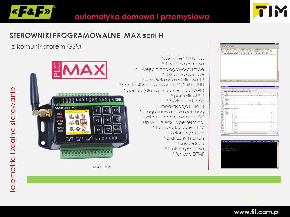 STEROWNIKI PROGRAMOWALNE MAX serii H