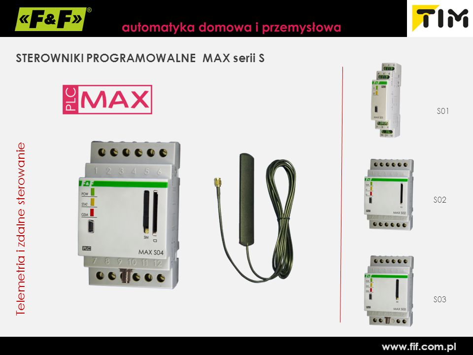STEROWNIKI PROGRAMOWALNE MAX serii S