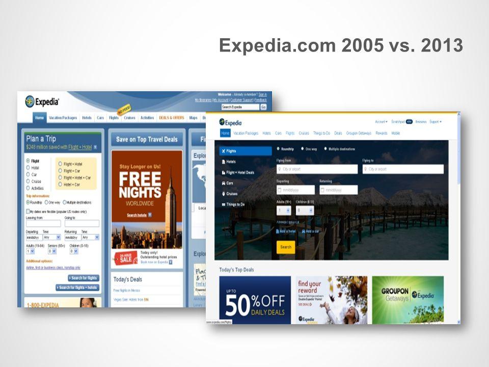 Expedia.com 2005 vs. 2013