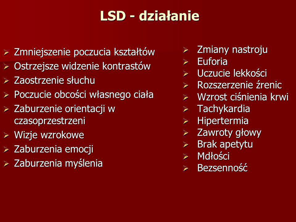 LSD - działanie Zmniejszenie poczucia kształtów