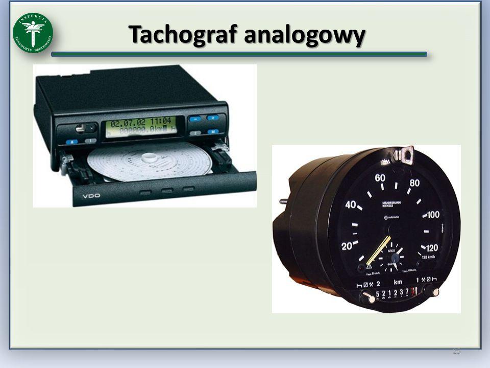 Tachograf analogowy