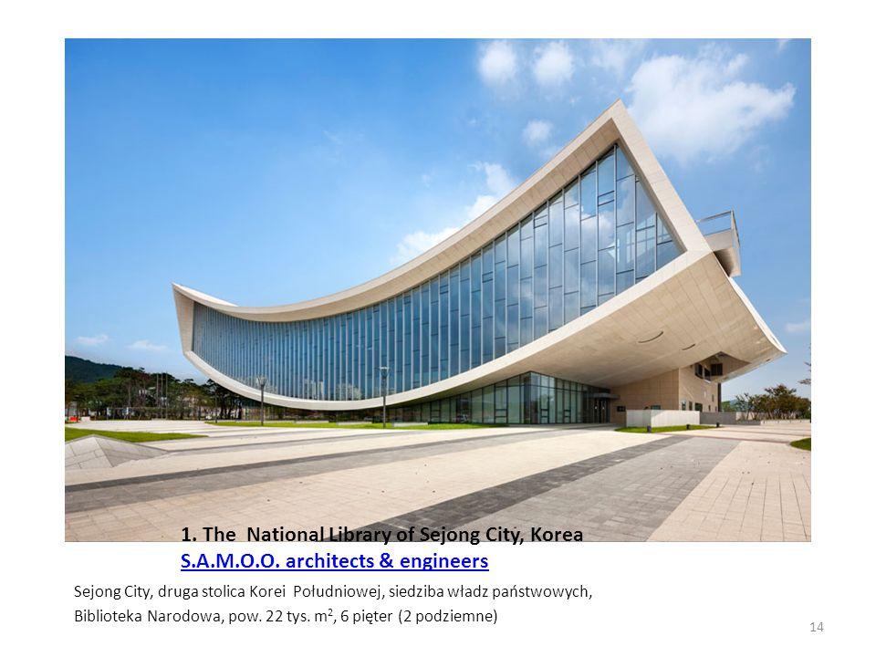 1. The National Library of Sejong City, Korea S. A. M. O. O