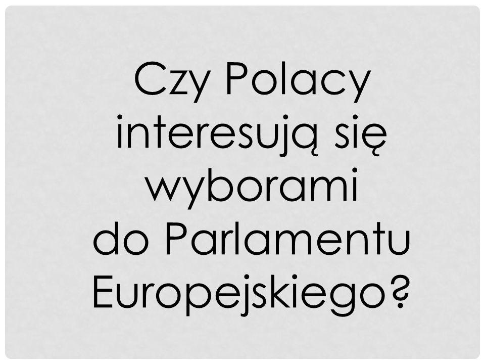 Czy Polacy interesują się wyborami do Parlamentu Europejskiego
