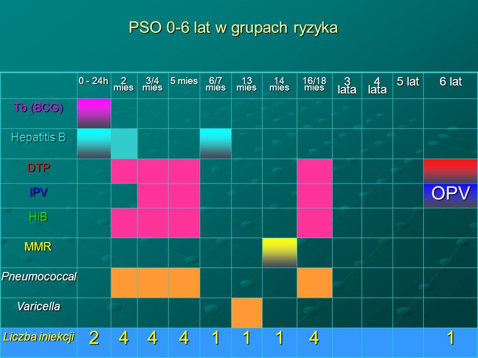 PSO 0-6 lat w grupach ryzyka