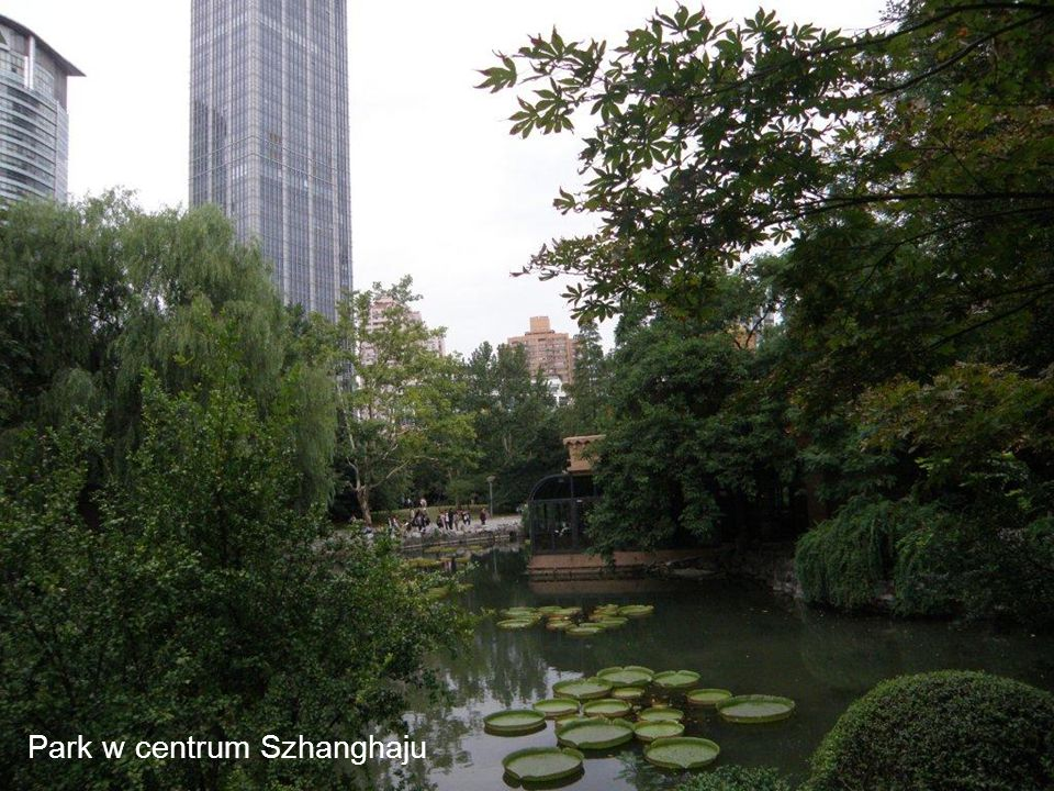 Park w centrum Szhanghaju