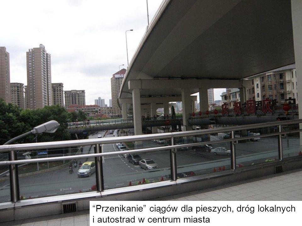 Przenikanie ciągów dla pieszych, dróg lokalnych