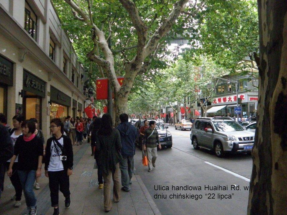 Ulica handlowa Huaihai Rd. w