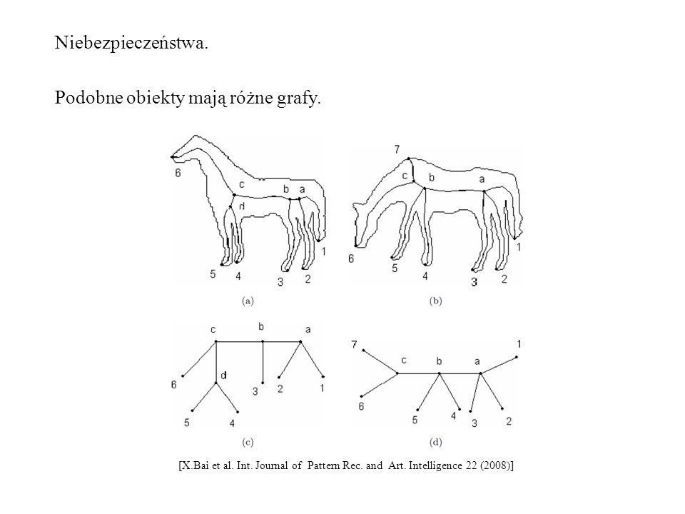 Podobne obiekty mają różne grafy.