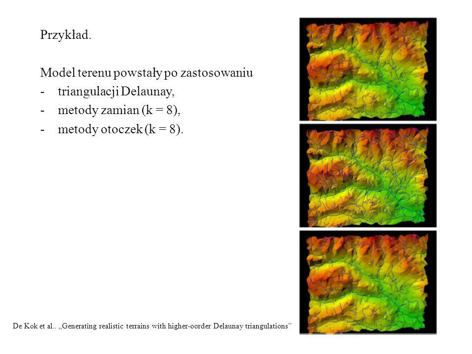Model terenu powstały po zastosowaniu triangulacji Delaunay,