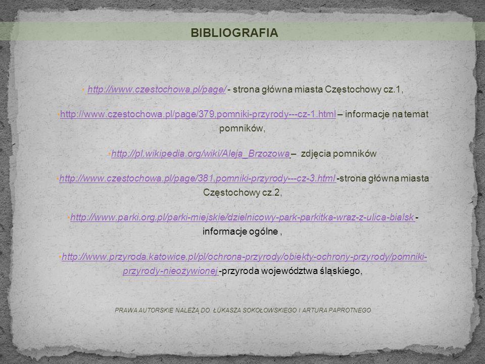 http://pl.wikipedia.org/wiki/Aleja_Brzozowa – zdjęcia pomników