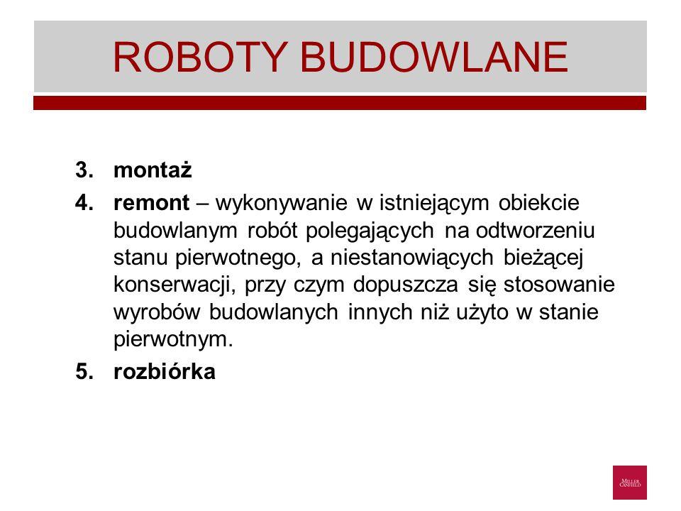 ROBOTY BUDOWLANE montaż