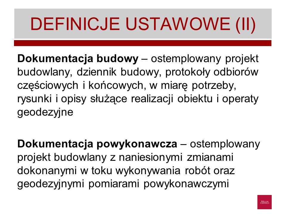 DEFINICJE USTAWOWE (II)