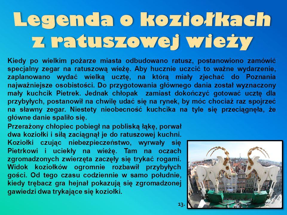 Legenda o koziołkach z ratuszowej wieży