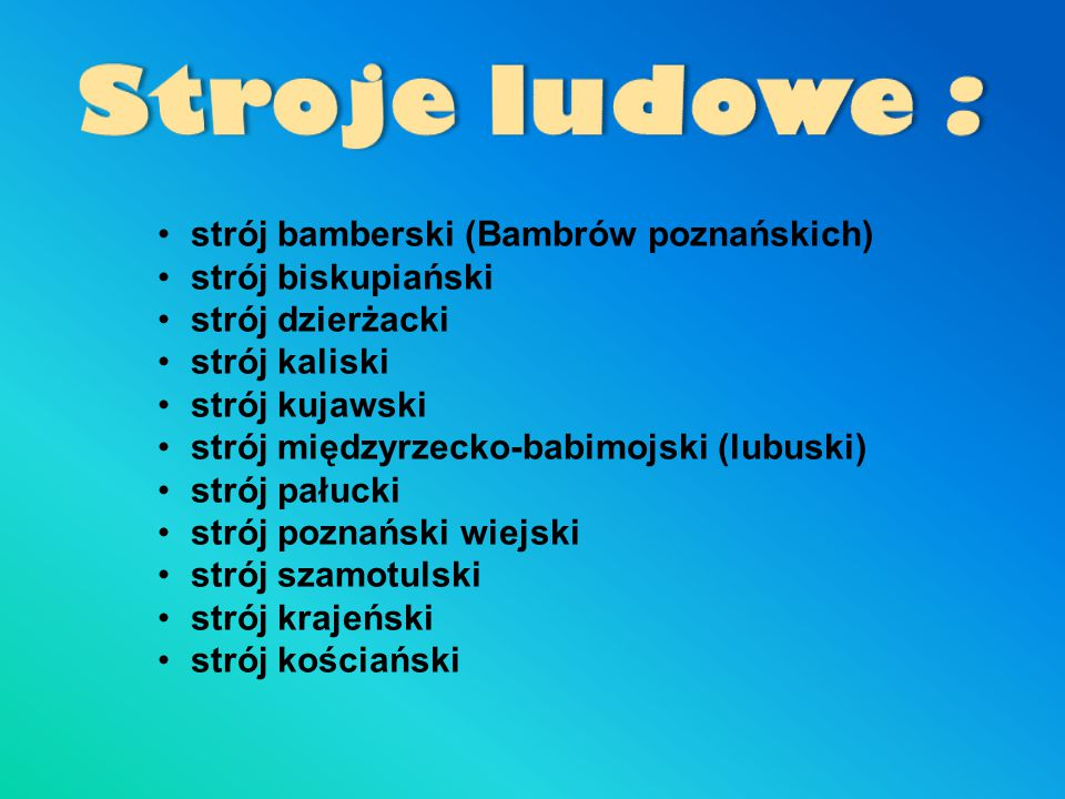 Stroje ludowe : strój bamberski (Bambrów poznańskich)