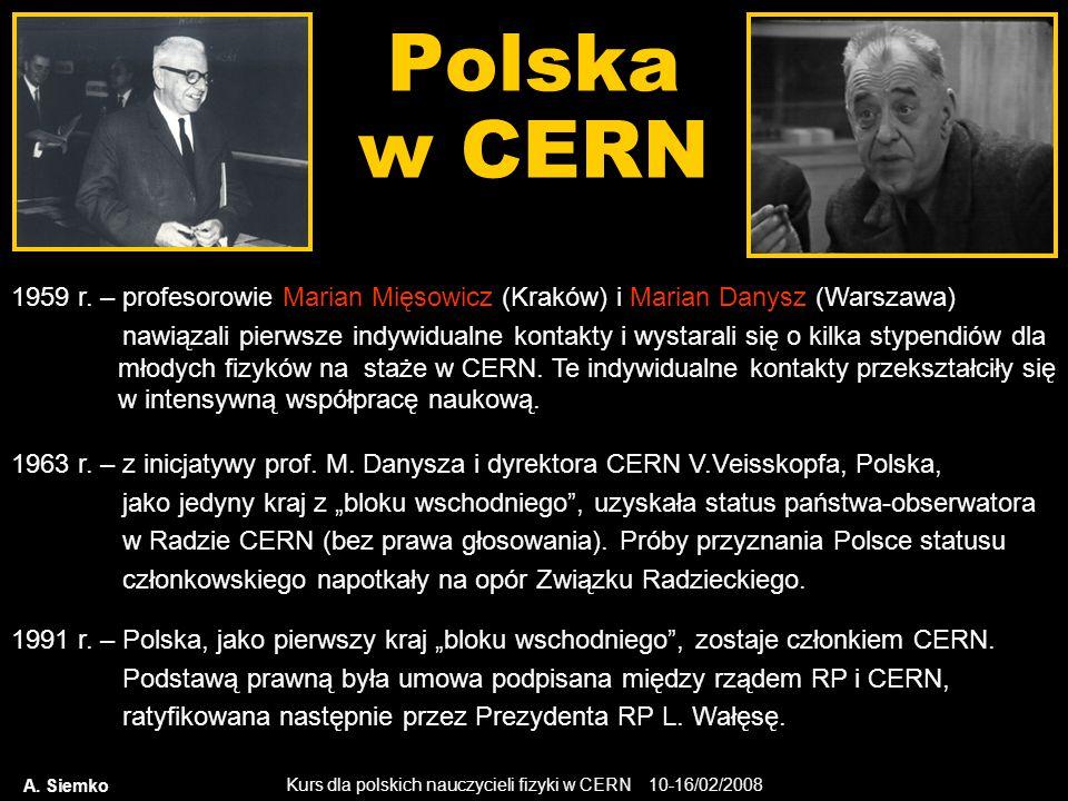 Polska w CERN 1959 r. – profesorowie Marian Mięsowicz (Kraków) i Marian Danysz (Warszawa)
