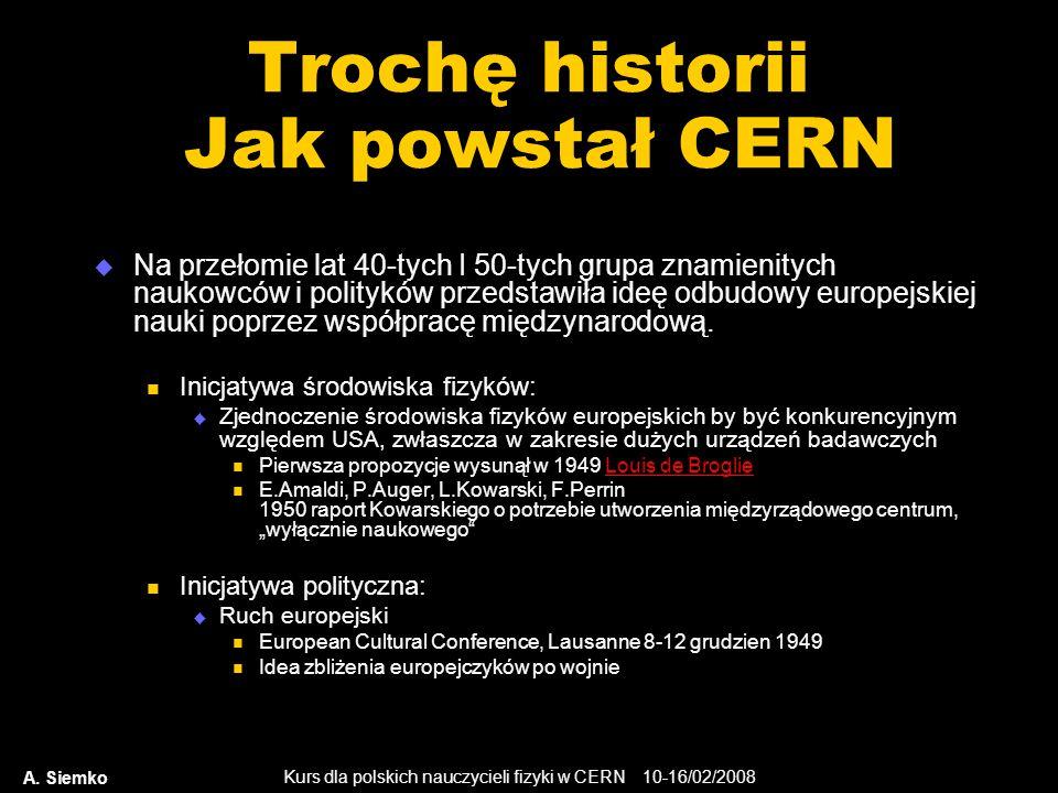 Trochę historii Jak powstał CERN