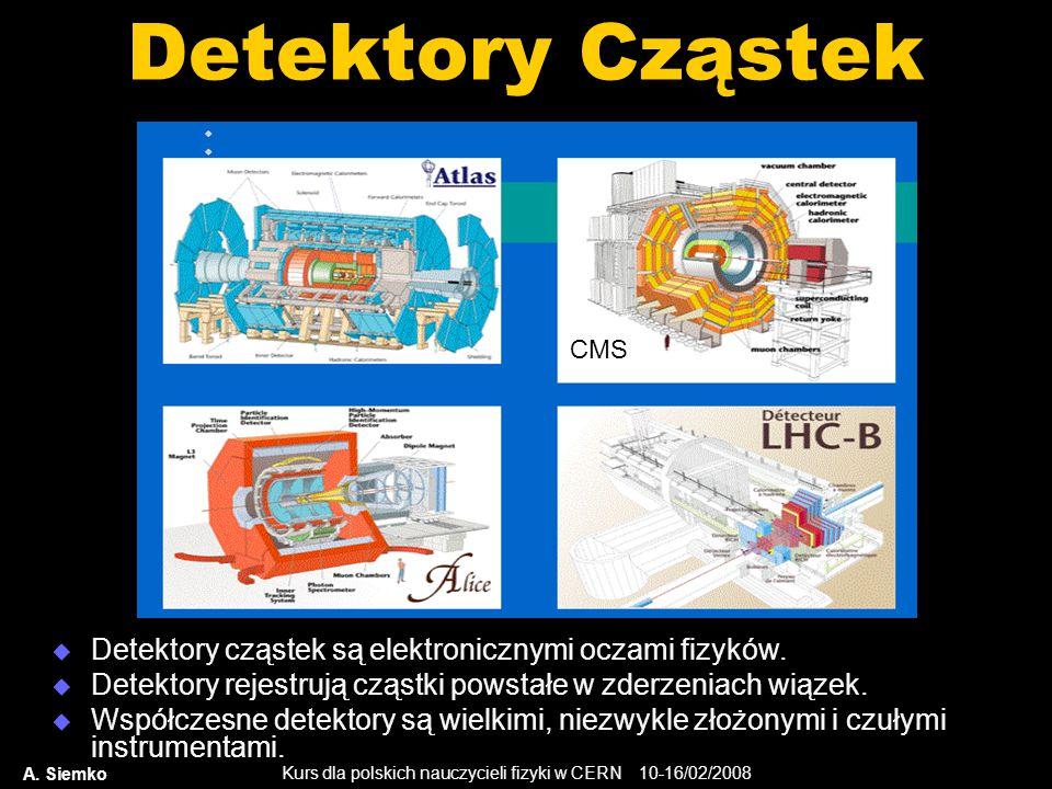 Detektory Cząstek Detektory cząstek są elektronicznymi oczami fizyków.