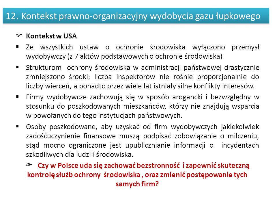 Kontekst prawno-organizacyjny wydobycia gazu łupkowego
