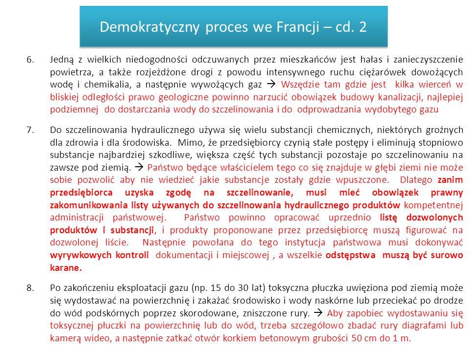 Demokratyczny proces we Francji – cd. 2
