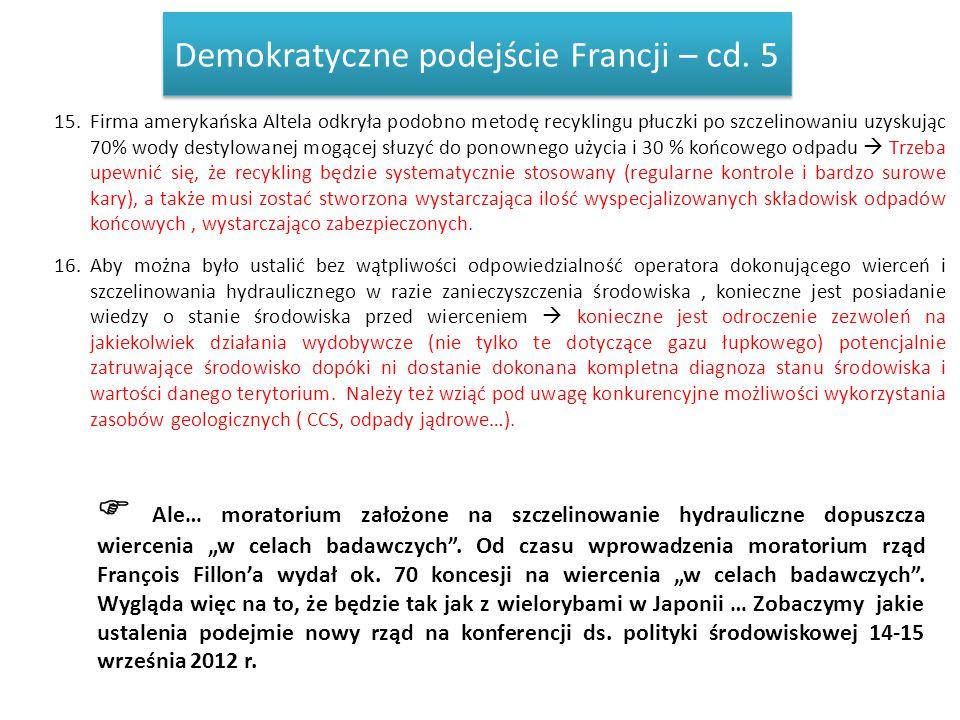 Demokratyczne podejście Francji – cd. 5