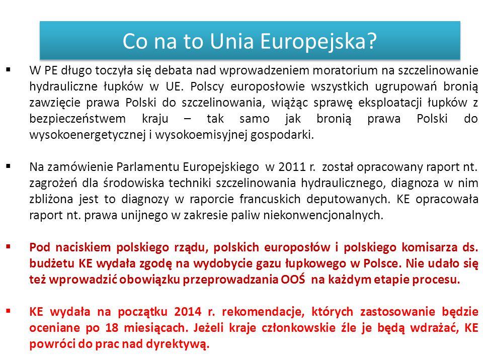 Co na to Unia Europejska