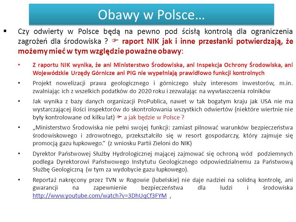 Obawy w Polsce…