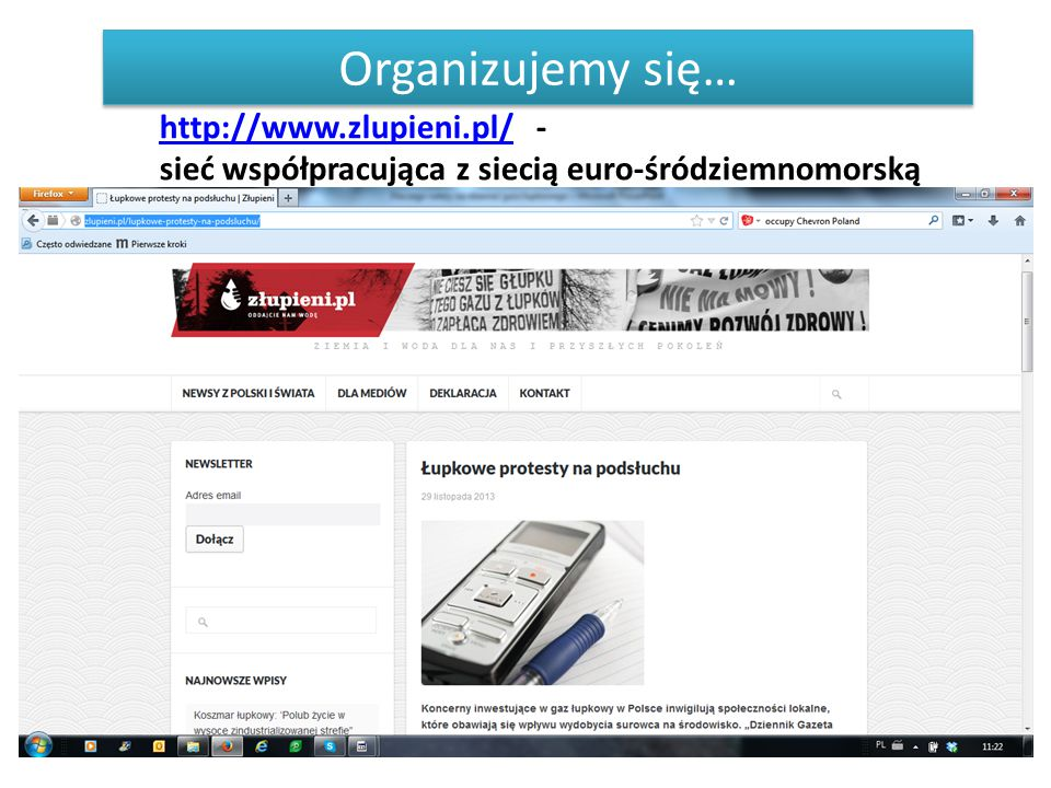 Organizujemy się… http://www.zlupieni.pl/ -