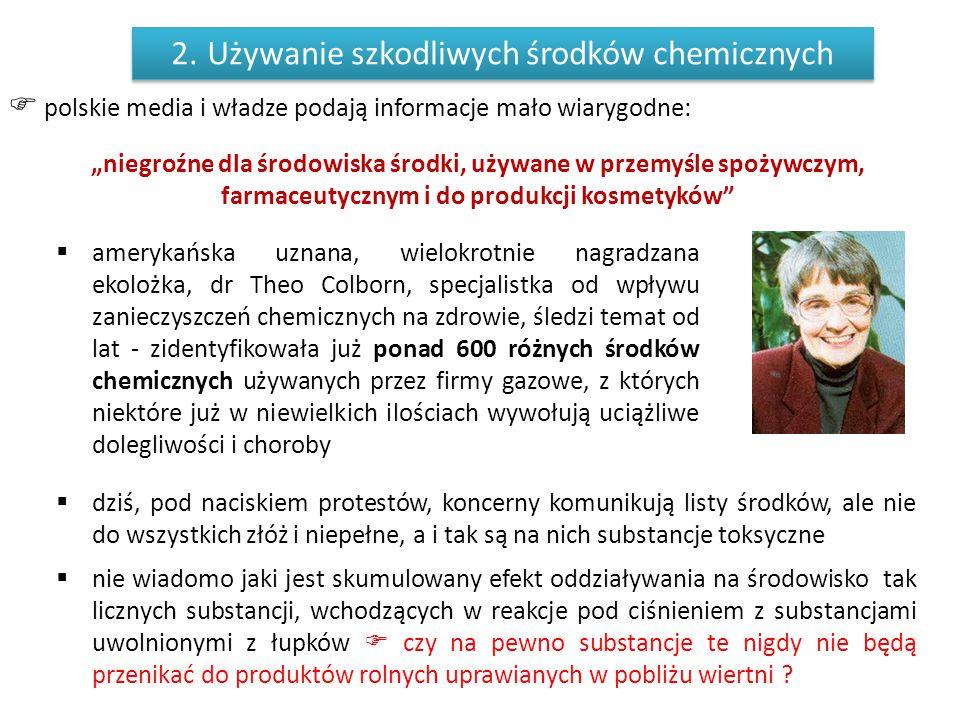 Używanie szkodliwych środków chemicznych