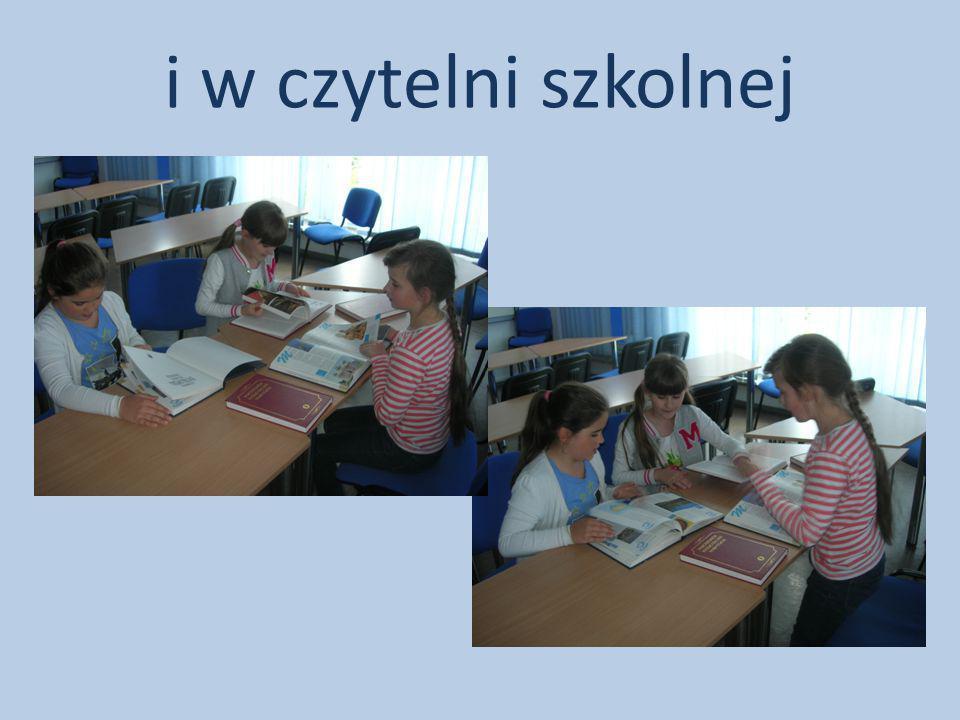 i w czytelni szkolnej