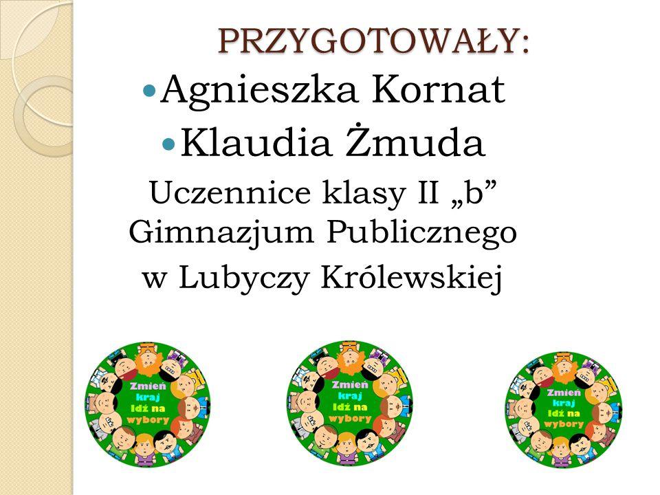 """Uczennice klasy II """"b Gimnazjum Publicznego"""