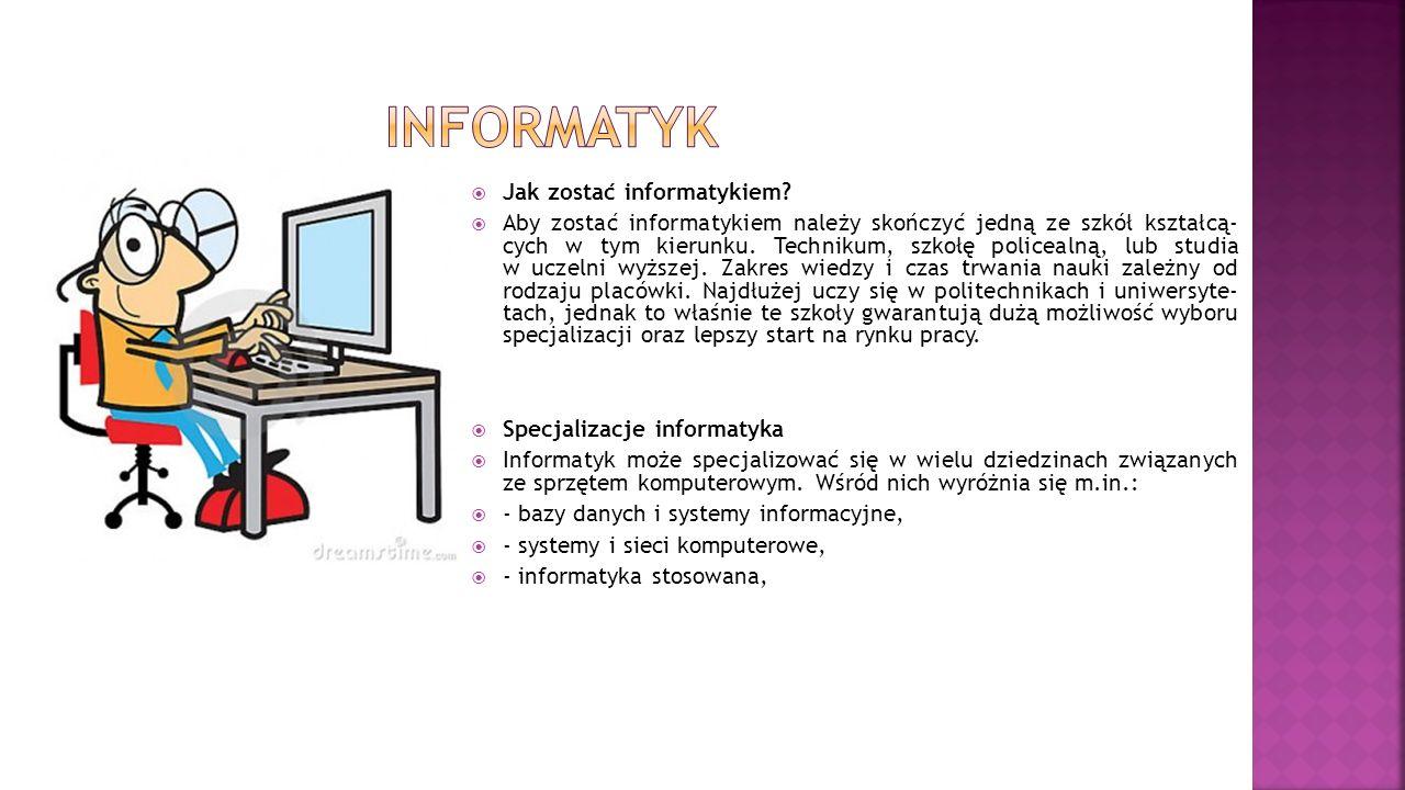 Informatyk Jak zostać informatykiem