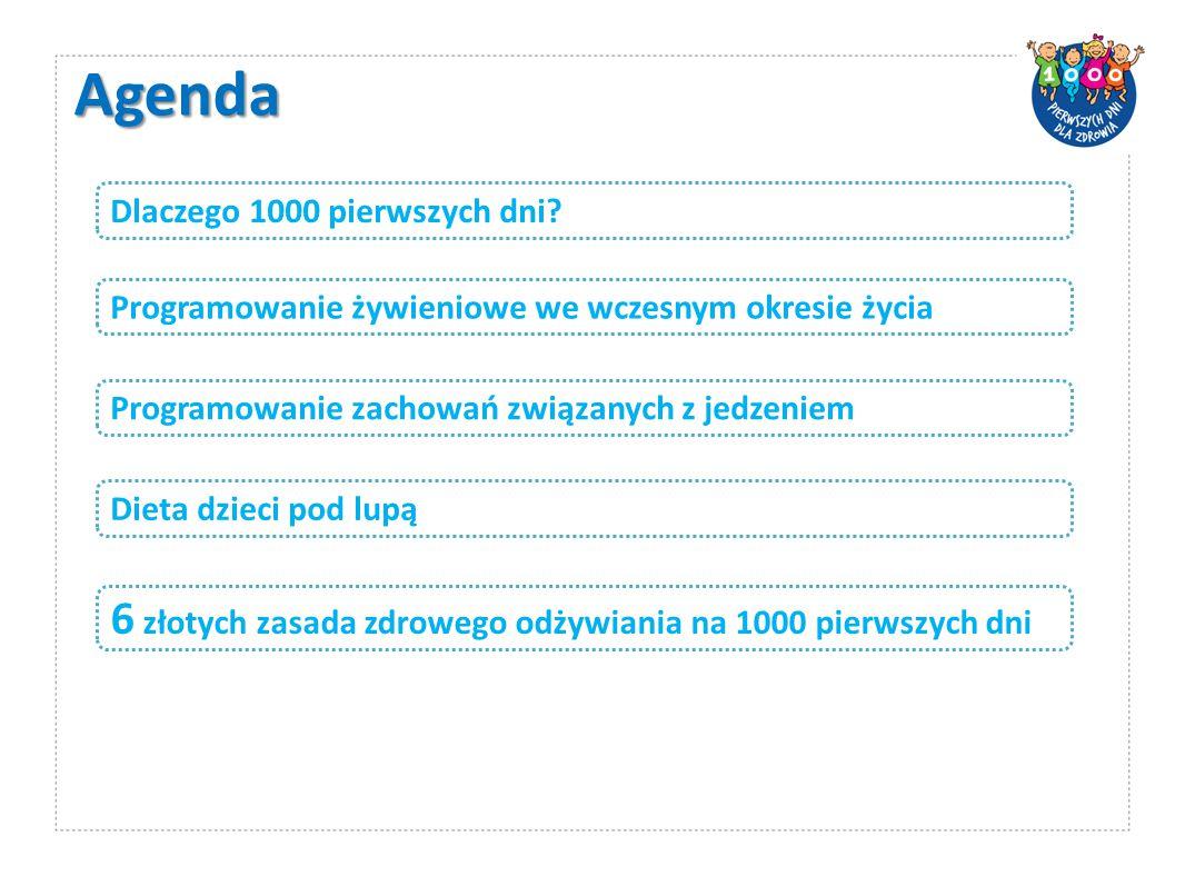 Agenda 6 złotych zasada zdrowego odżywiania na 1000 pierwszych dni