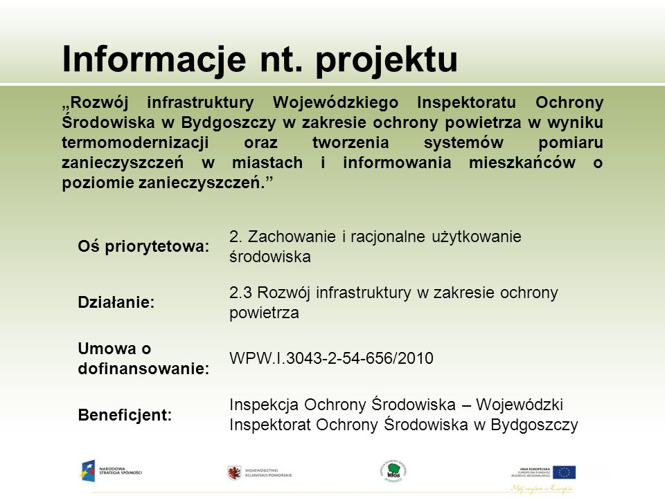Informacje nt. projektu