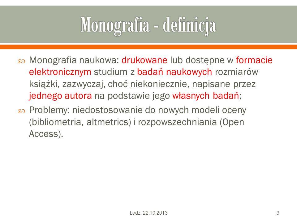Monografia - definicja