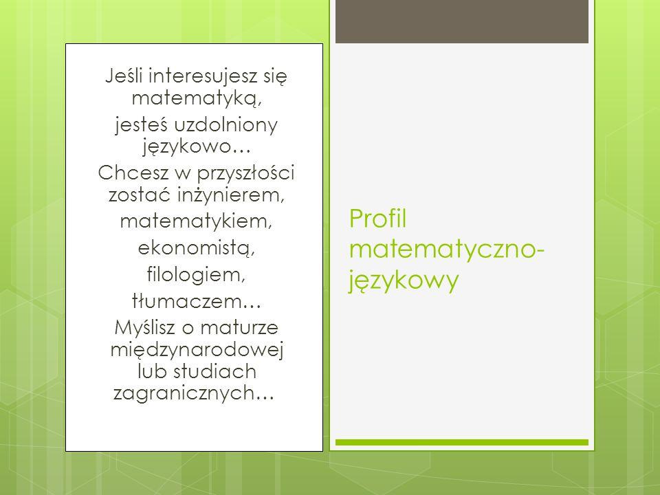 Profil matematyczno-językowy