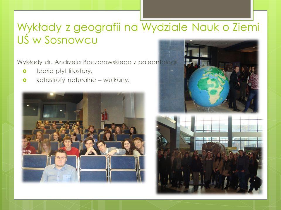 Wykłady z geografii na Wydziale Nauk o Ziemi UŚ w Sosnowcu