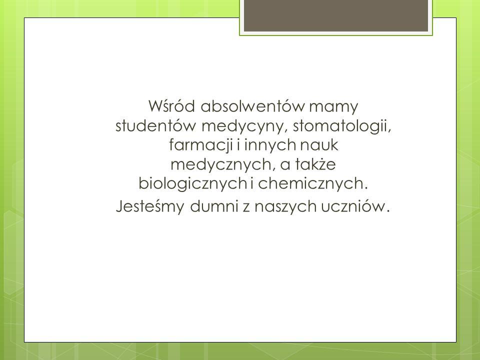 Jesteśmy dumni z naszych uczniów.