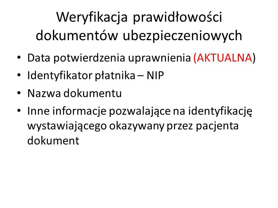 Weryfikacja prawidłowości dokumentów ubezpieczeniowych