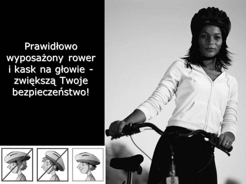 Prawidłowo wyposażony rower i kask na głowie - zwiększą Twoje bezpieczeństwo!