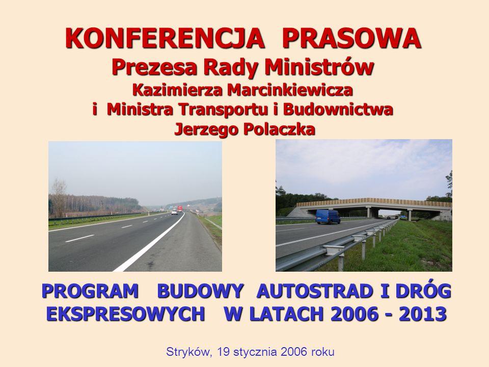 KONFERENCJA PRASOWA Prezesa Rady Ministrów