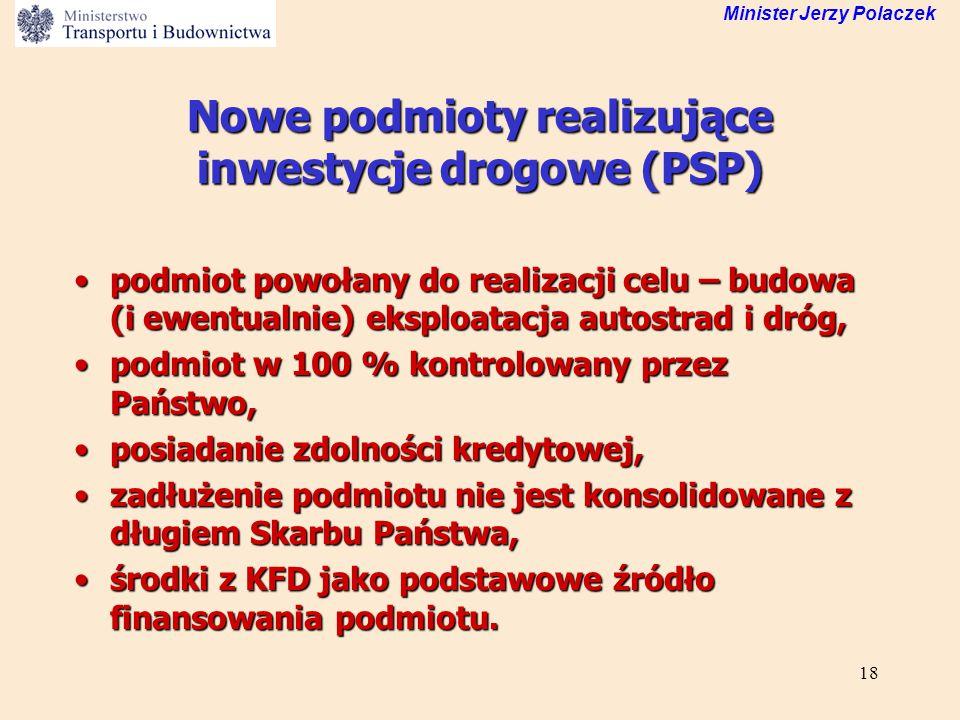 Nowe podmioty realizujące inwestycje drogowe (PSP)