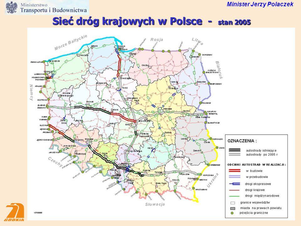 Sieć dróg krajowych w Polsce - stan 2005