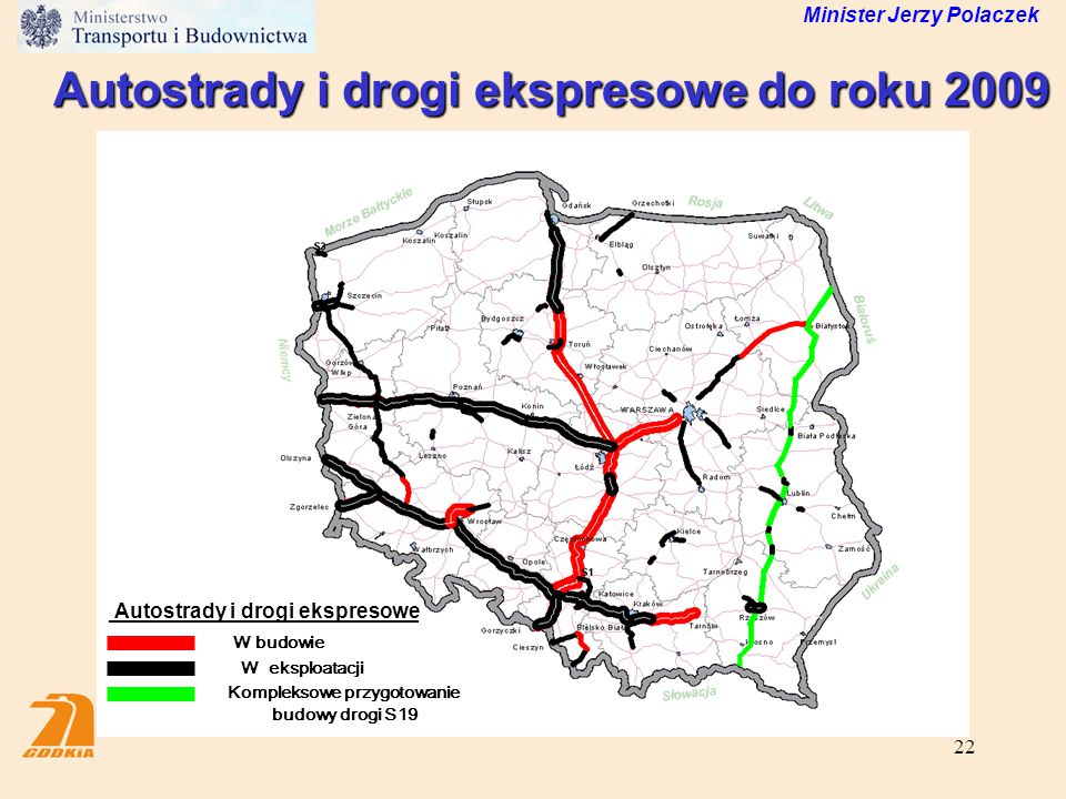 Autostrady i drogi ekspresowe do roku 2009