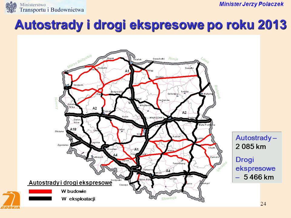 Autostrady i drogi ekspresowe po roku 2013