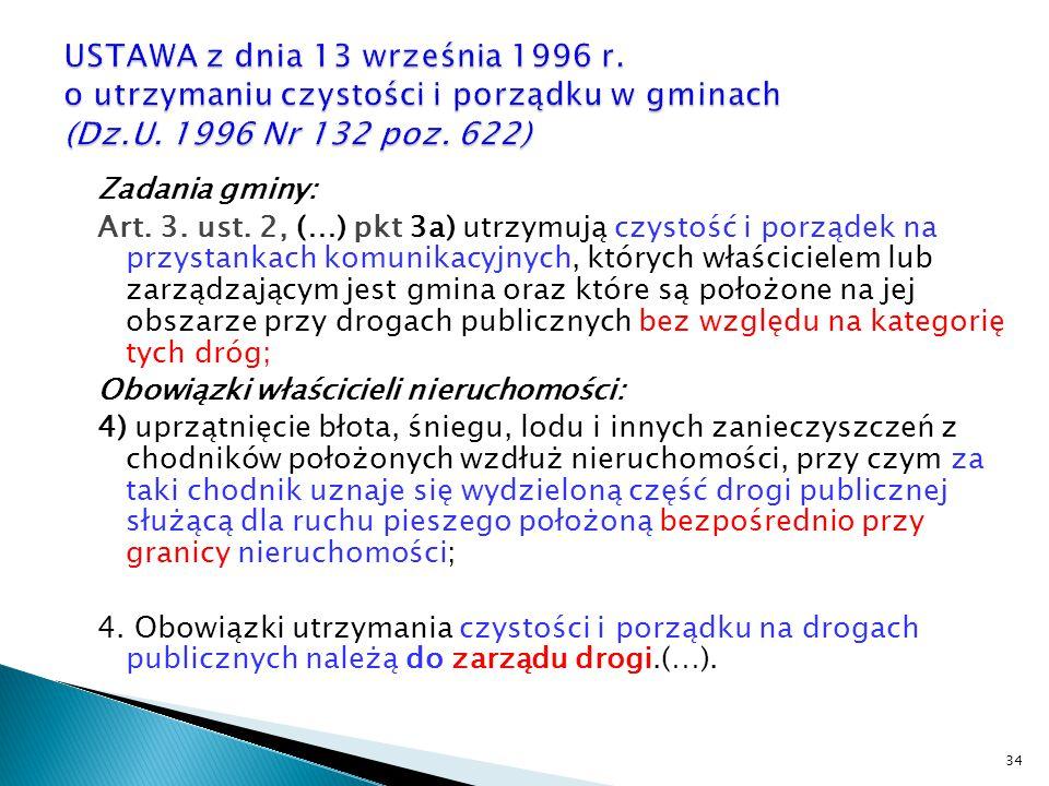 USTAWA z dnia 13 września 1996 r