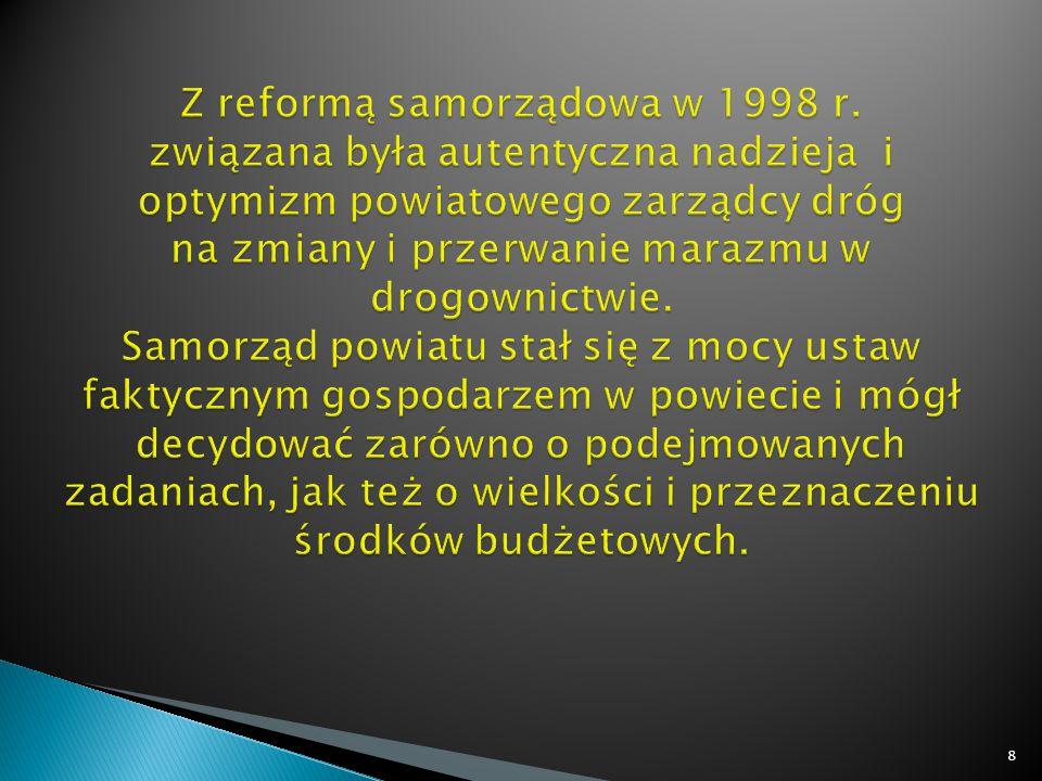 Z reformą samorządowa w 1998 r