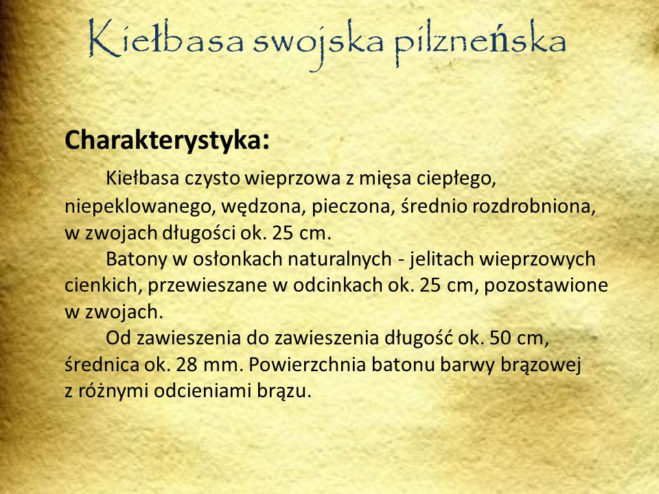 Kiełbasa swojska pilzneńska