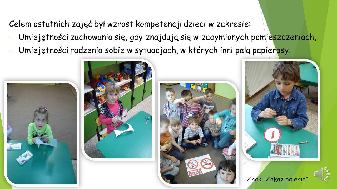 Celem ostatnich zajęć był wzrost kompetencji dzieci w zakresie: