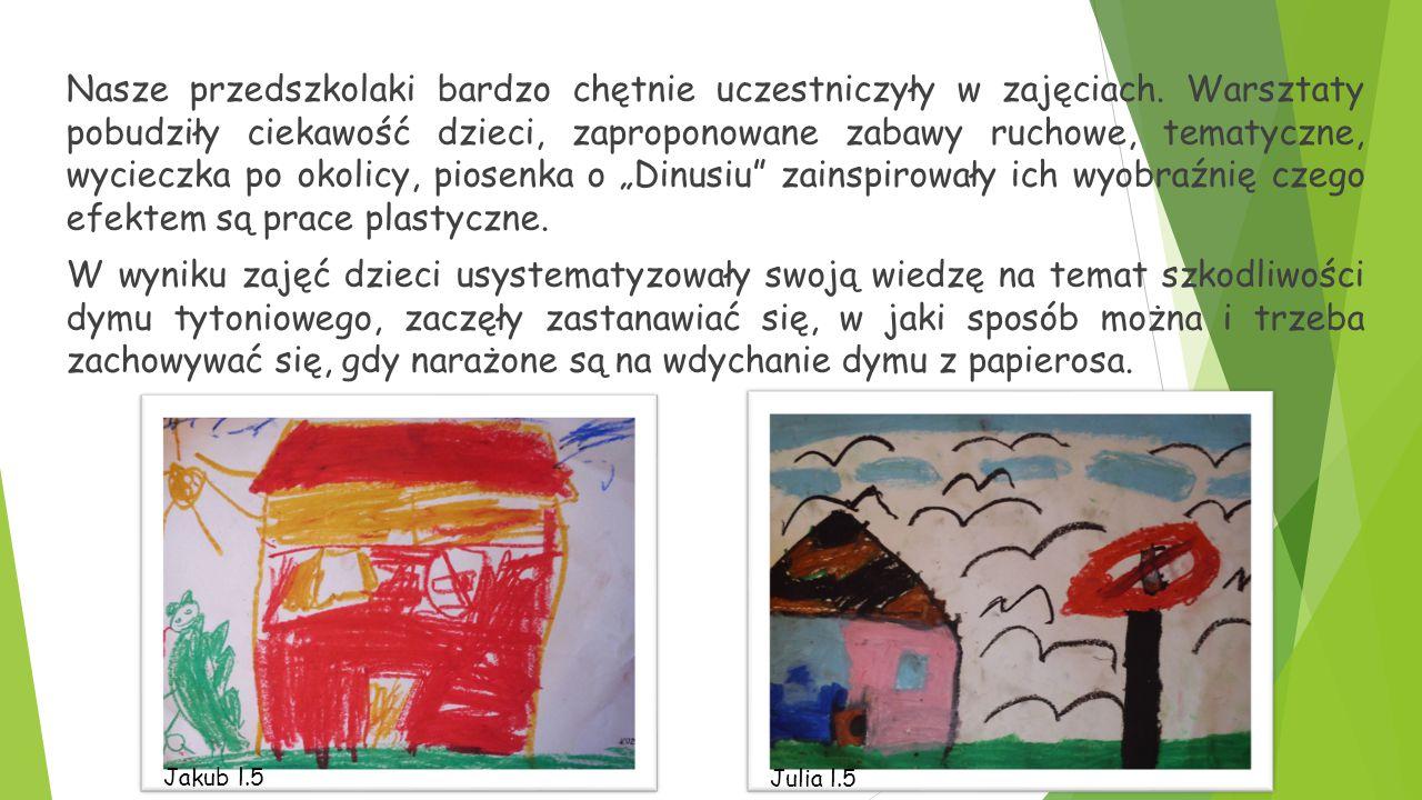 Nasze przedszkolaki bardzo chętnie uczestniczyły w zajęciach