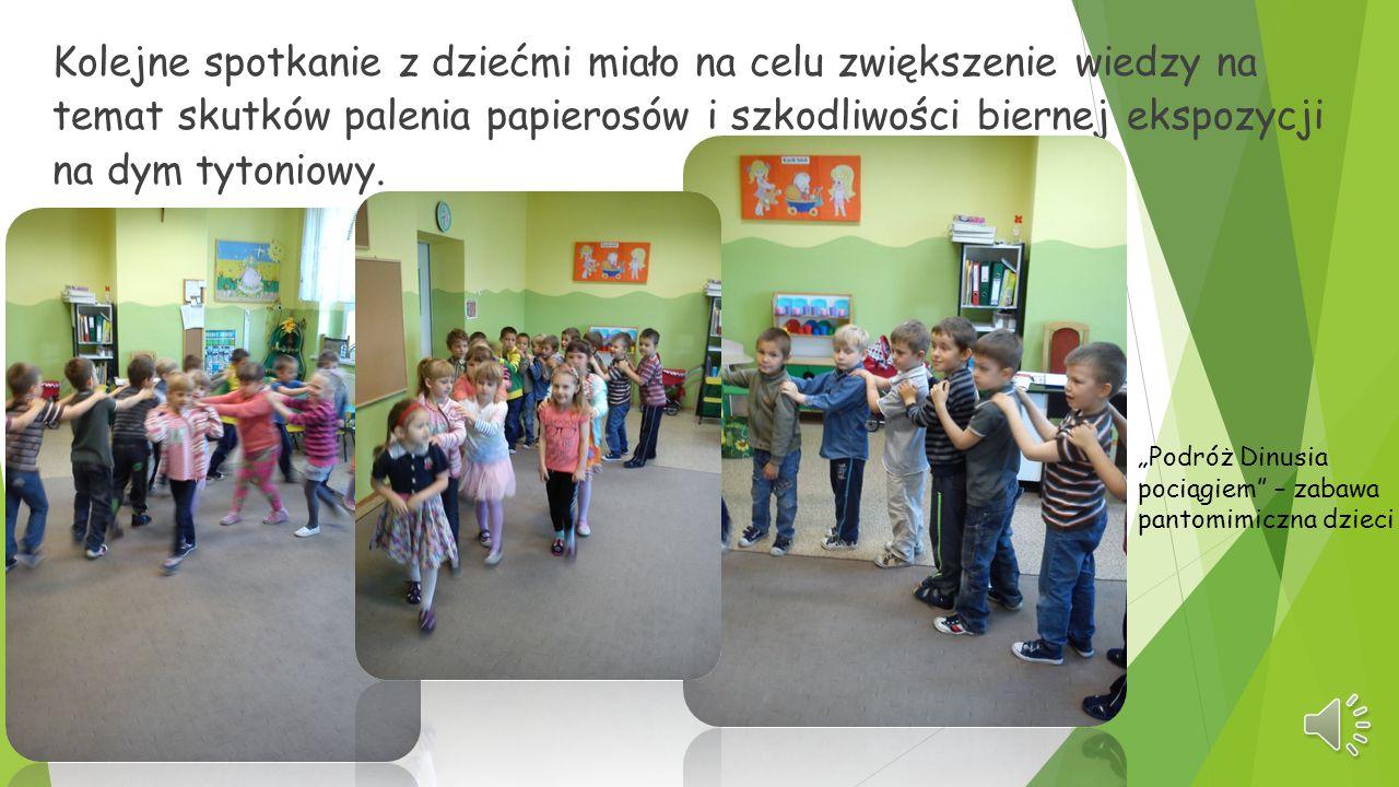 Kolejne spotkanie z dziećmi miało na celu zwiększenie wiedzy na temat skutków palenia papierosów i szkodliwości biernej ekspozycji na dym tytoniowy.